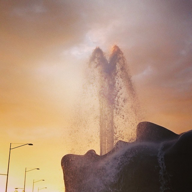 #FOUNTAIN #EARTH #MOTHER #ART #SUNRISE #CASCADE #WATERFALL
