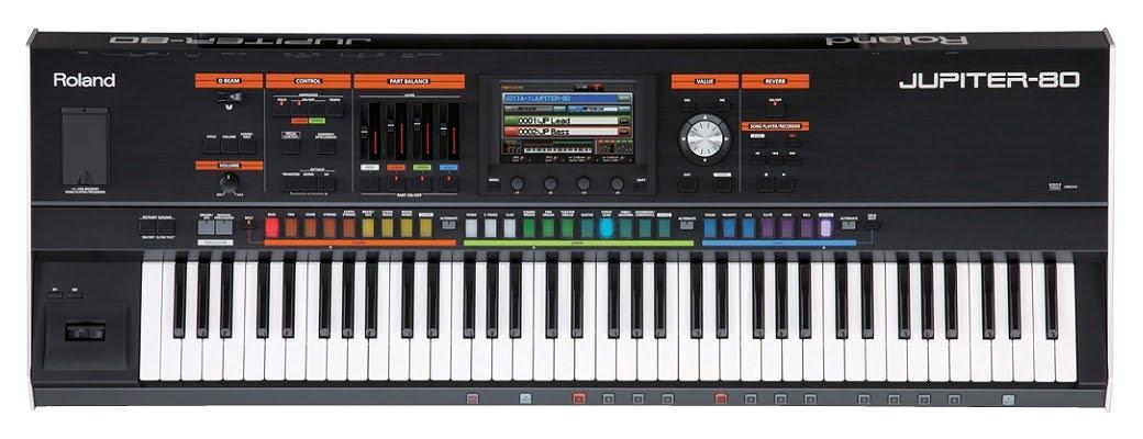 Jupiter 80: Edición y creación de sonidos sintetizador analógico magesy.es